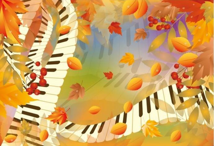 An image illustrating fall music.